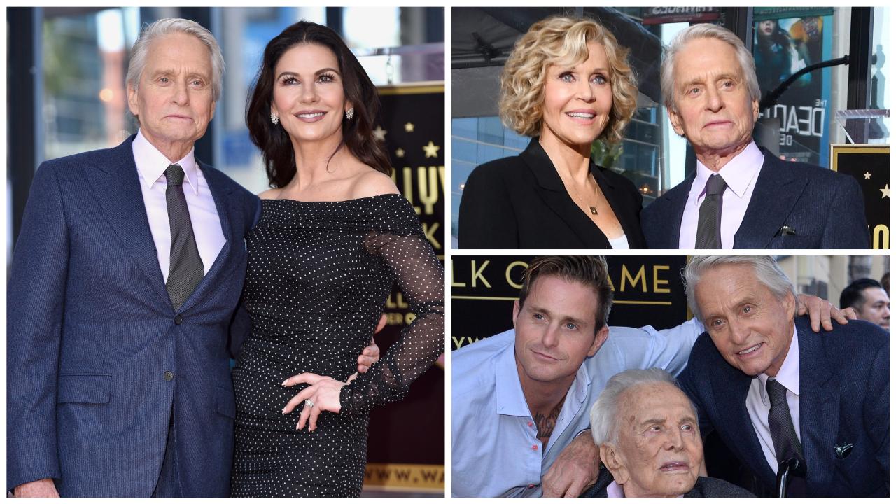 Très ému, Michael Douglas inaugure son étoile sur le Hollywood Boulevard en famille | Premiere.fr