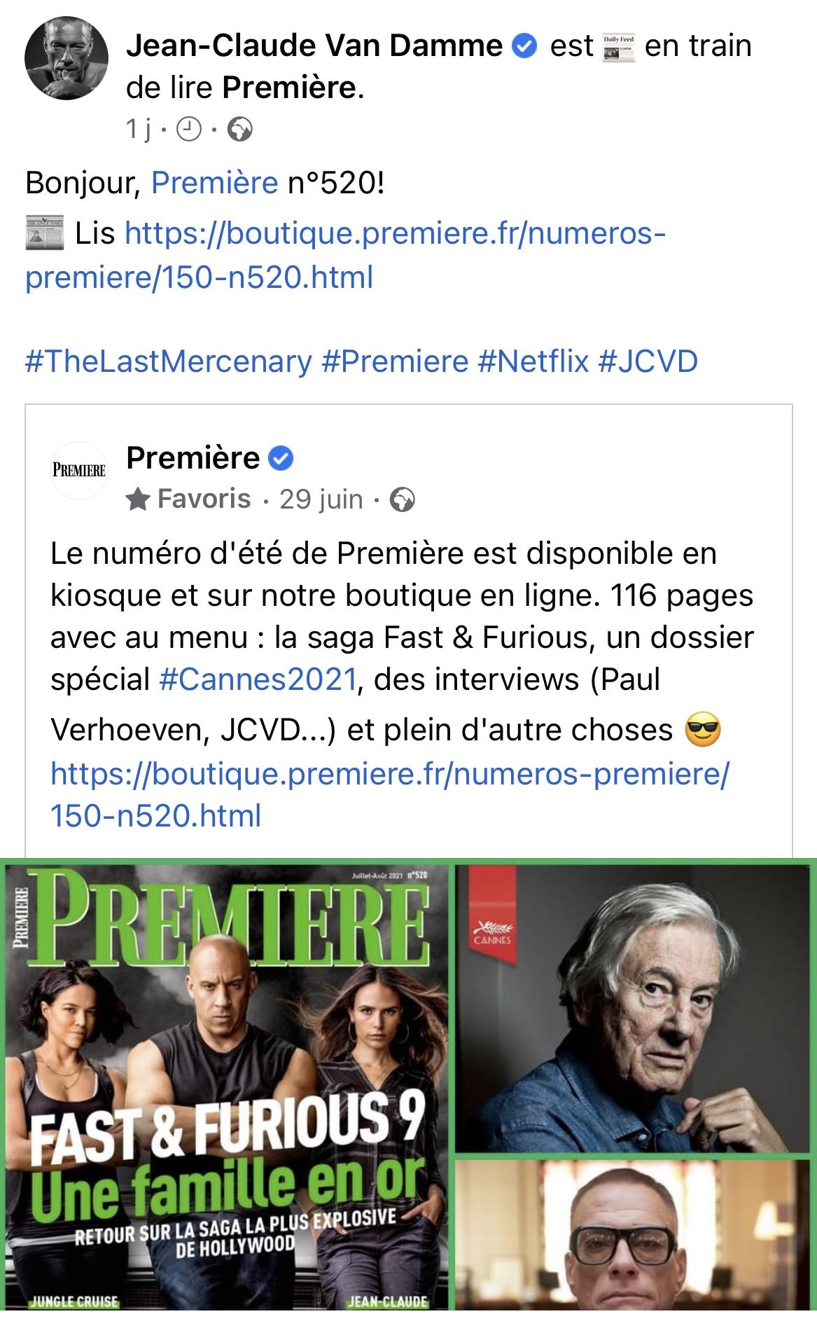 JCVD Likes Premiere
