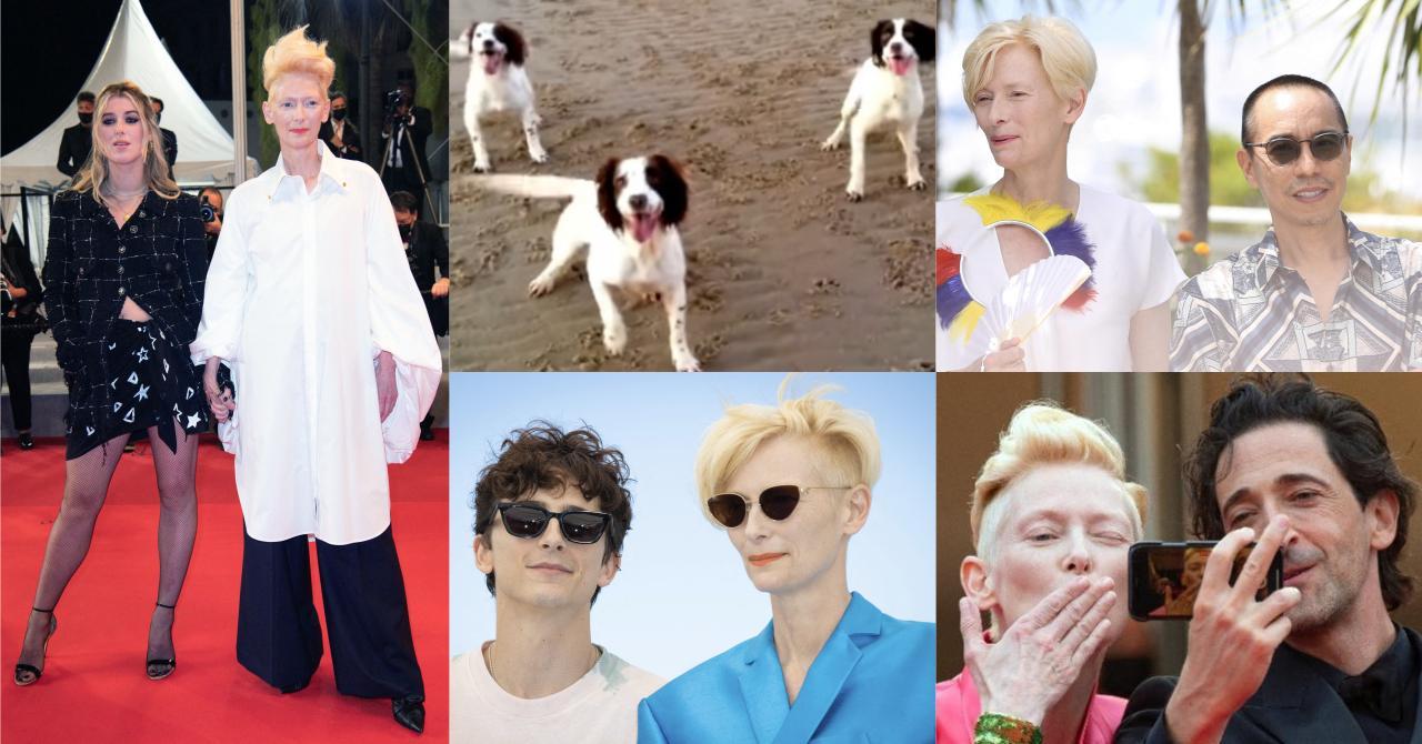 Cannes 2021 : Tilda Swinton a fini le festival en beauté en recevant la Palm Dog