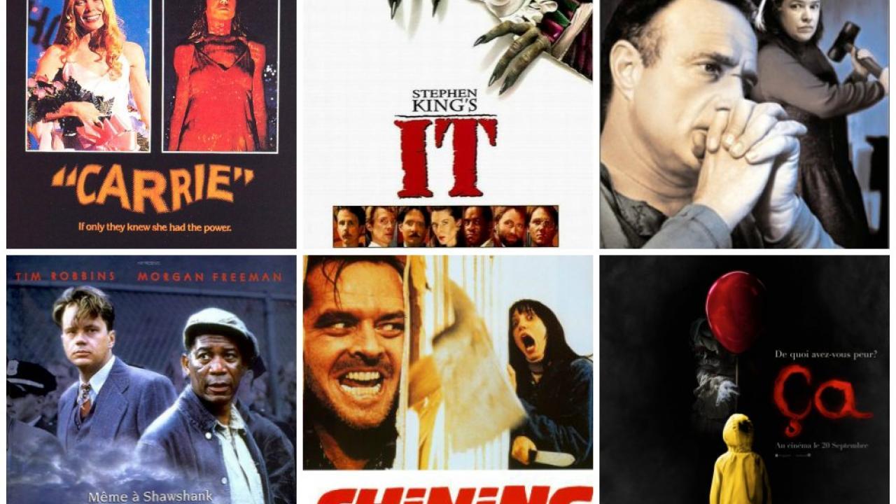 2500409dddc0c7 Stephen King : 40 ans d'adaptations au cinéma et à la télévision ...