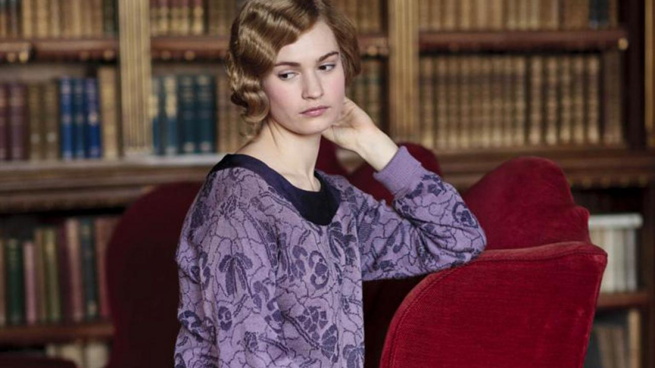 downton abbey lily james