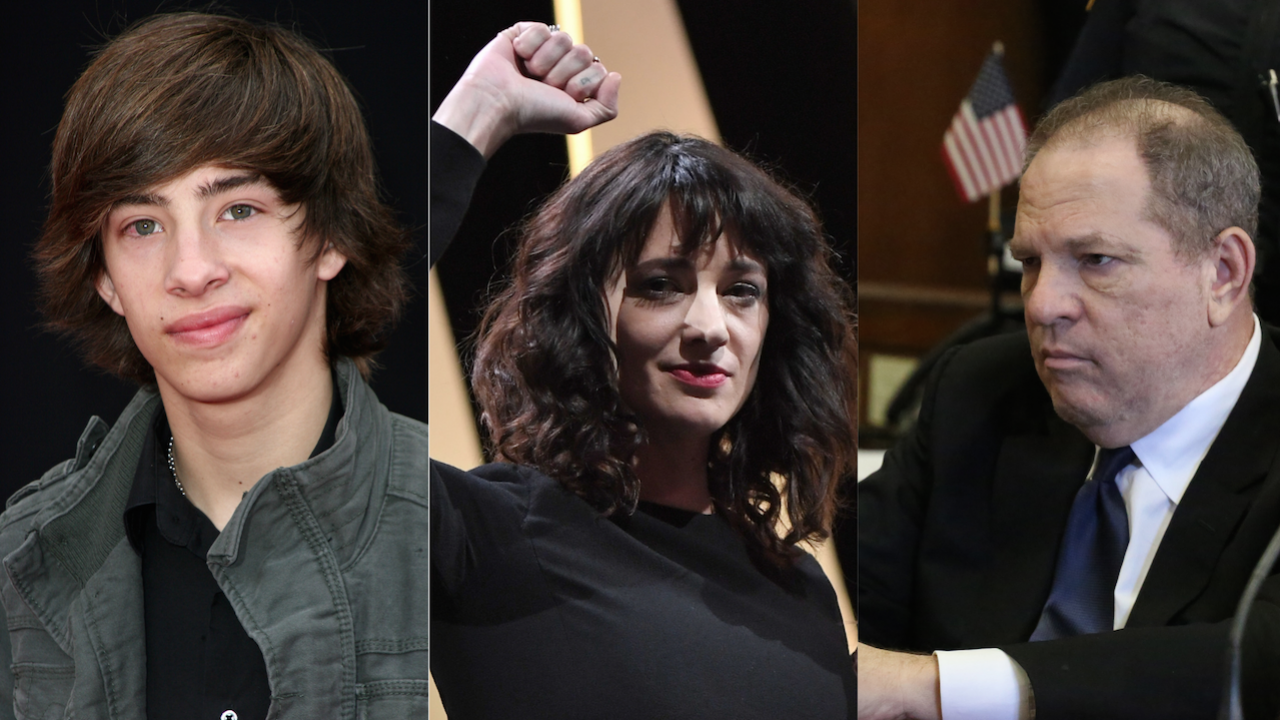 Asia Argento Jimmy Bennett Harvey Weinstein