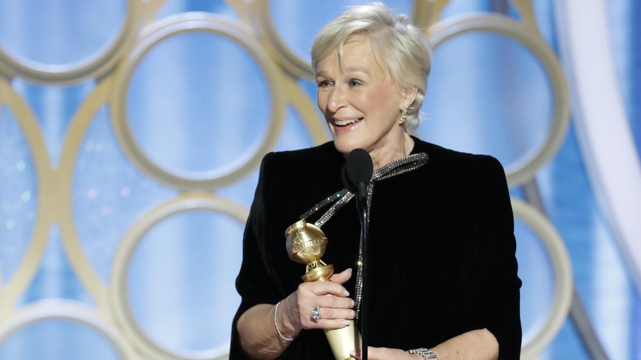 Golden Globes 2019: Glenn Close, émue, reçoit son premier prix pour un rôle au cinéma