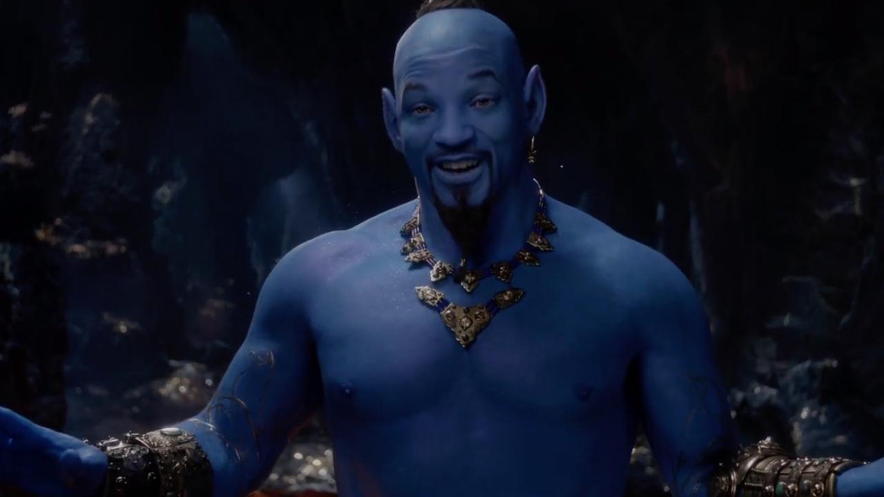 Les premières images de Will Smith en génie dans le film d'Aladdin