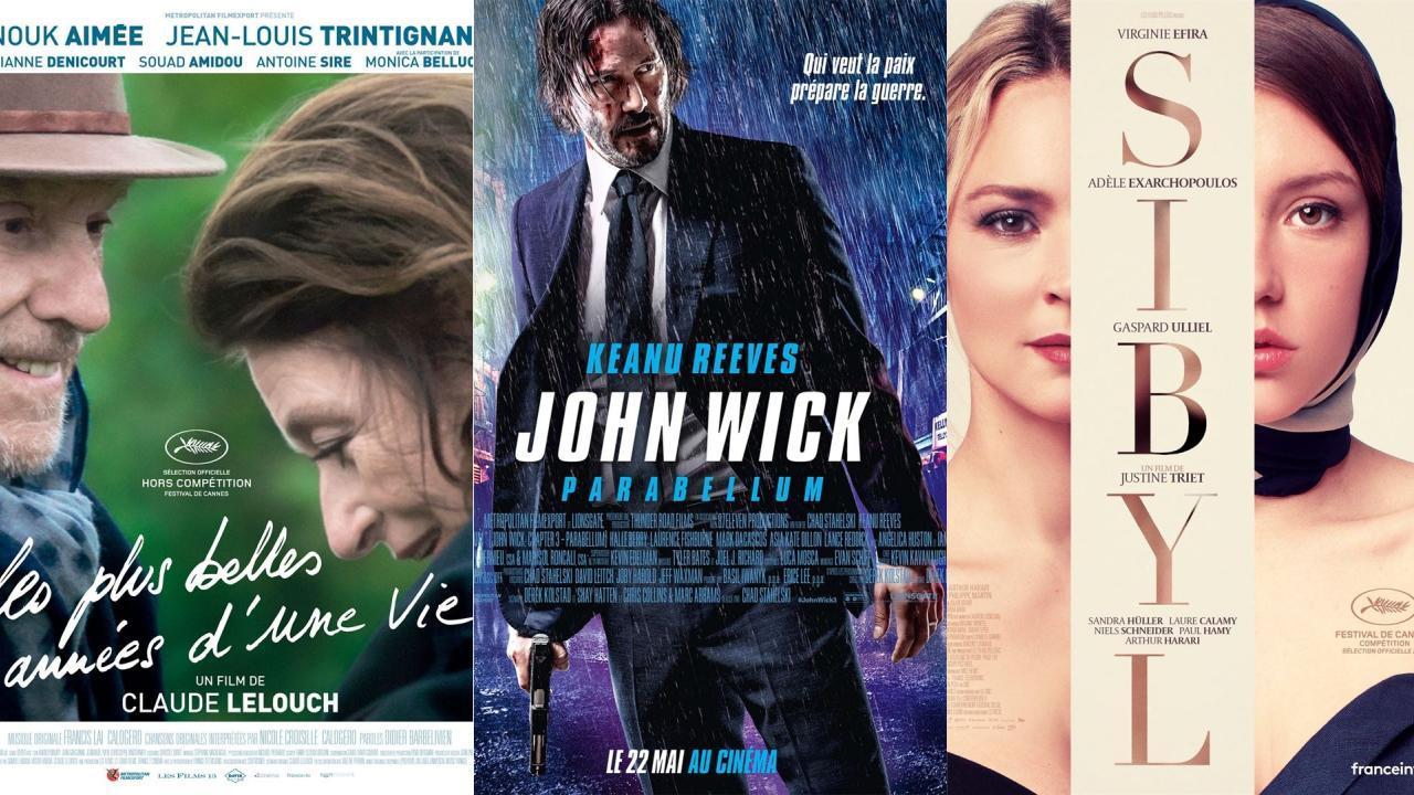 John Wick Parabellum, Sibyl, Les plus belles années d'une vie : les films au cinéma cette semaine