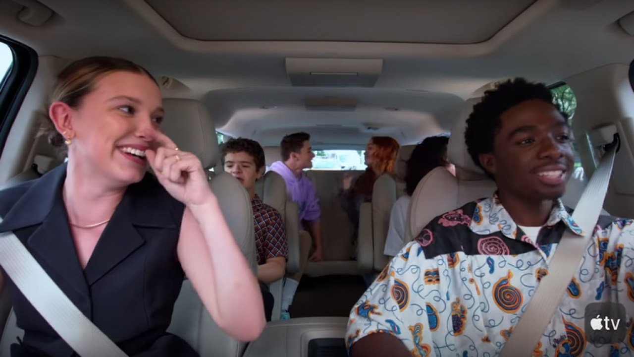 Stranger Things au Carpool Karaoke