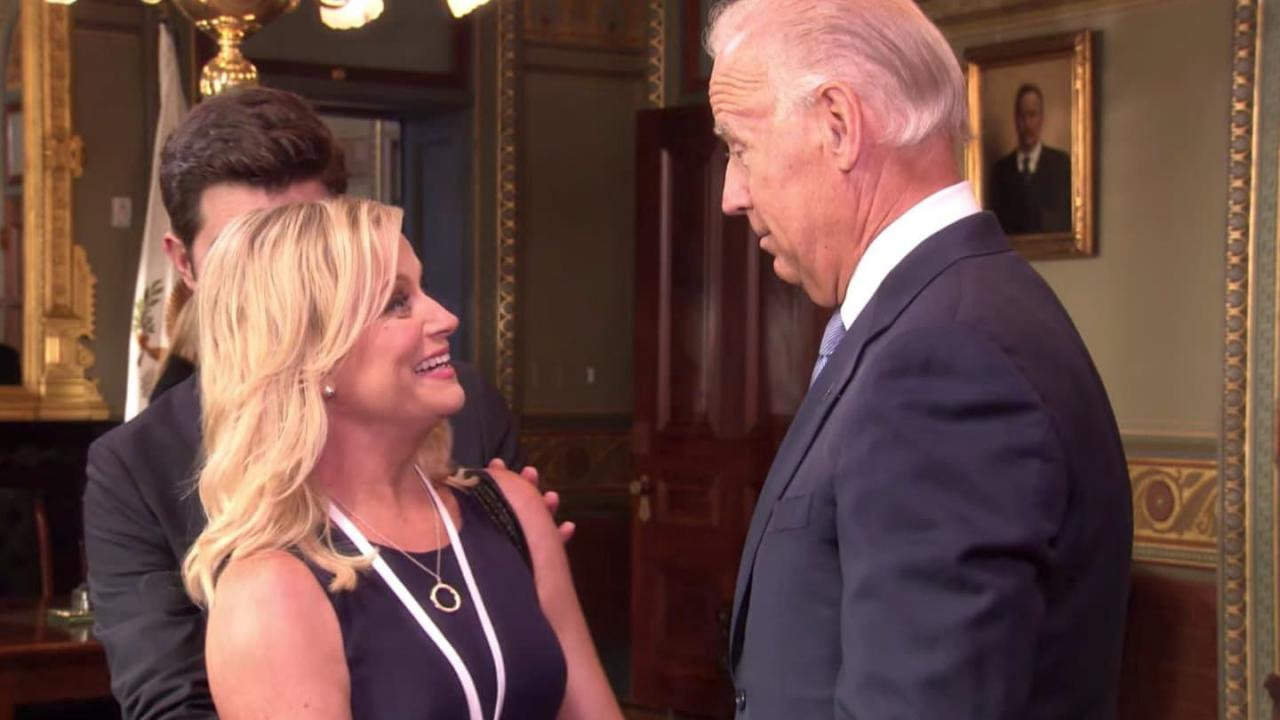 Amy Poehler et Joe Biden