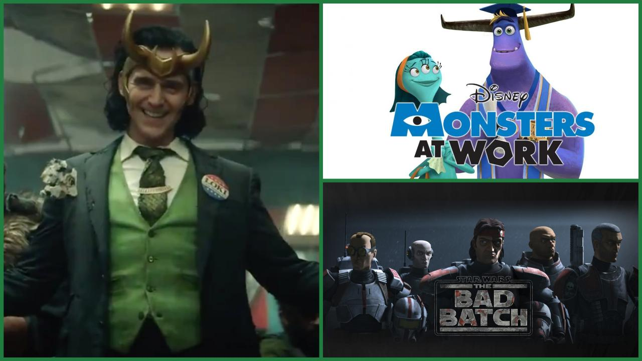 Disney date plusieurs séries : Loki, Star Wars The Bad Batch, Monsters at Work...