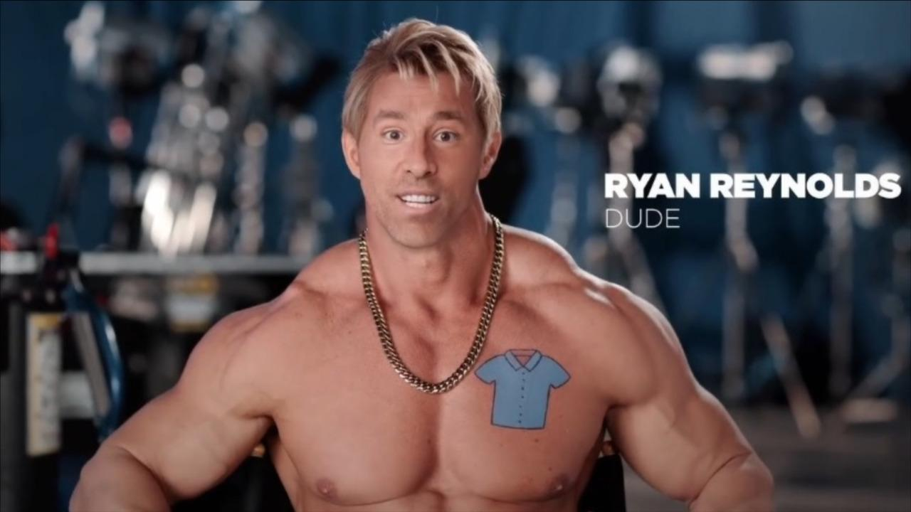 Ryan Reynolds introduces Dude, his very muscular 2nd character from Free Guy