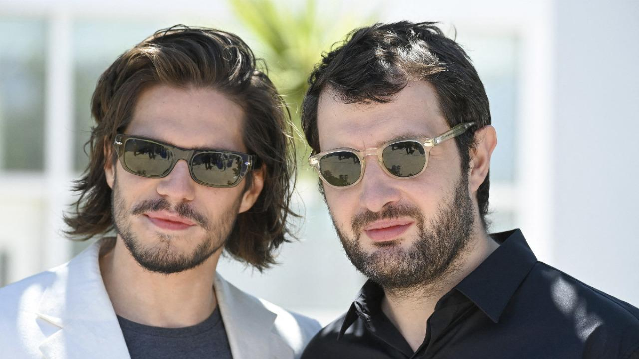 Cannes 2021: Karim Leklou and François Civil during the Bac Nord photocall