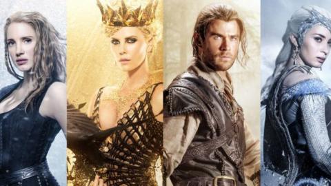 Le Chasseur Et La Reine Des Glaces Charlize Theron Chris Hemsworth Emily Blunt Et Jessica Chastain S Affichent Premiere Fr