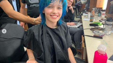 """Ever Anderson shares behind-the-scenes photos of Black Widow: """"I was colored my hair blue for this movie"""""""