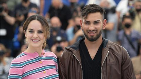 Cannes 2021: Noémie Merlant and Gimi-Nicolae Covaci at the photocall of Mi iubita, mon amour