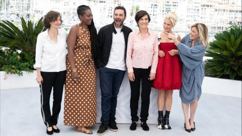 Cannes 2021: Catherine Corsini, and her actors during the La Fracture photocall