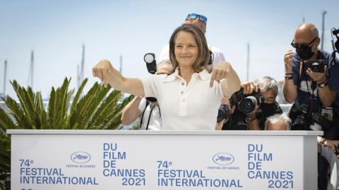 Jodie Foster, guest of honor at the 74th Cannes film festival