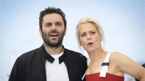 Cannes 2021: Pio Marmaï and Marina Foïs at the La Fracture photocall