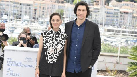 Marion Cotillard and Adam Driver at the Annette photocall