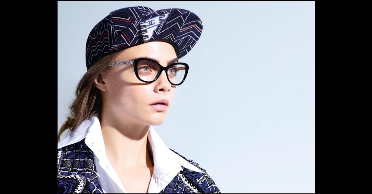 28c5929408242 Cara Delevingne va vous donner envie de porter des lunettes ...
