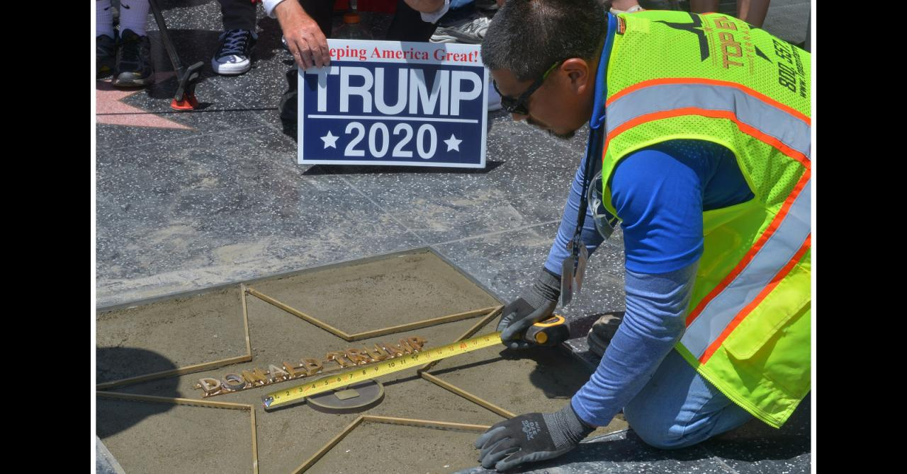 L'étoile de Donald Trump sur le Hollywood Boulevard