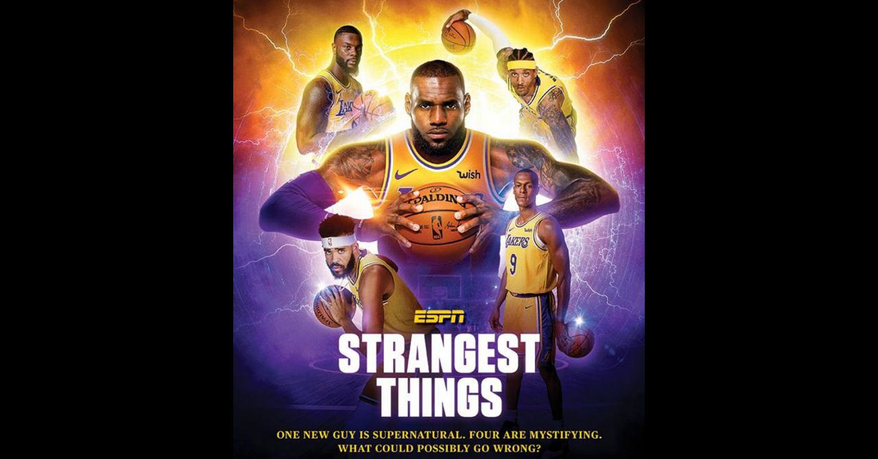 stranger things Lakers
