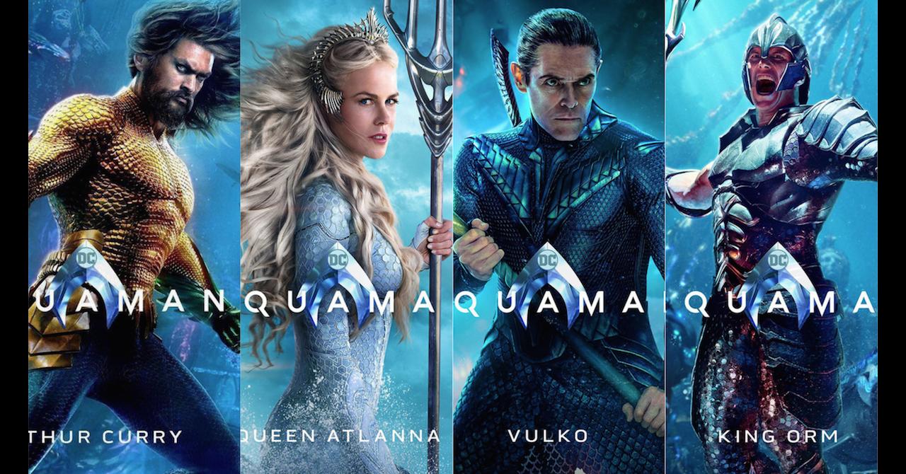 Aquaman : sept nouveaux posters colorés et kitschs viennent d'être dévoilés