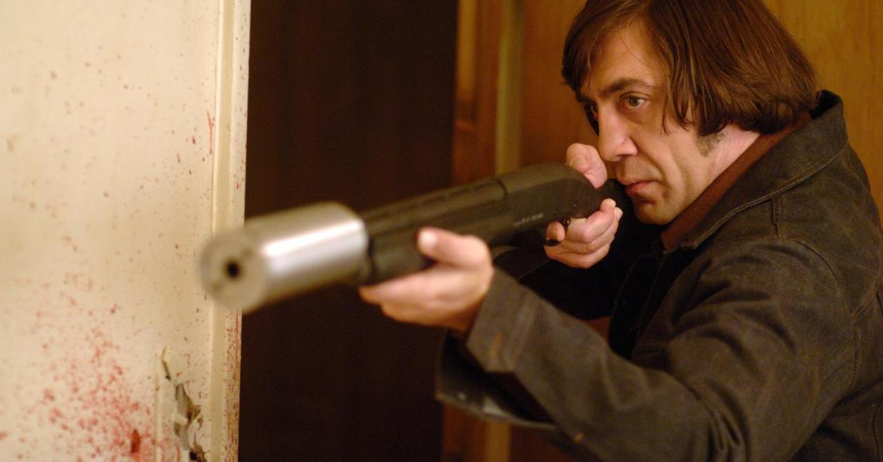 Javier Bardem, alias Anton Chigurh, dans No Country for Old Men (2008)