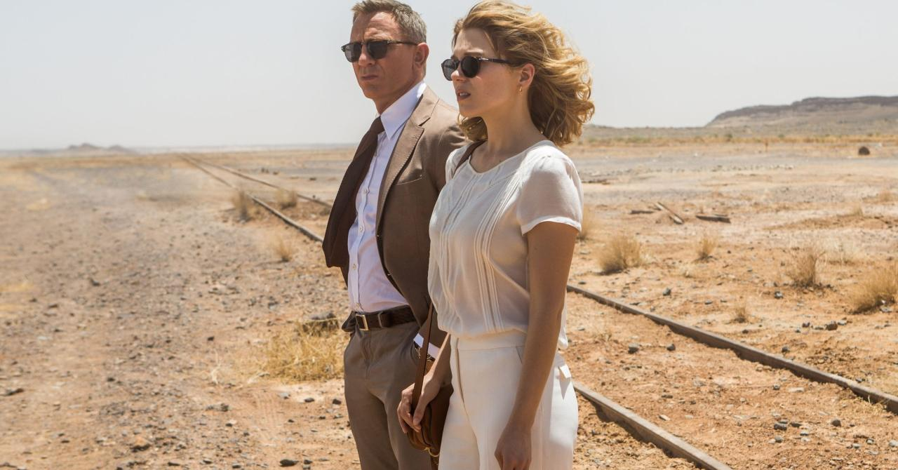 Léa Seydoux and Daniel Craig in 007 Specter (2015)