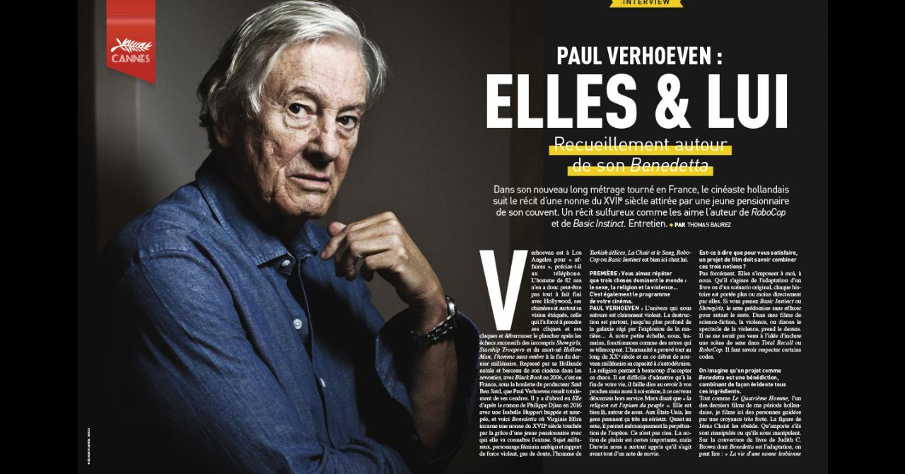 Premiere n ° 520: Interview with Paul Verhoeven for Benedetta