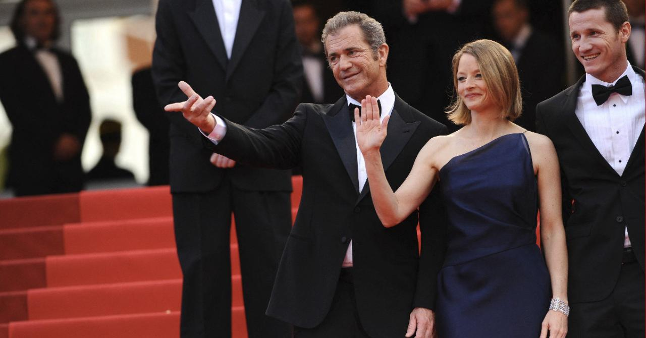 Jodie Foster, Mel Gibson and Matt Smith in Cannes for Le Complexe du Castor (2007)