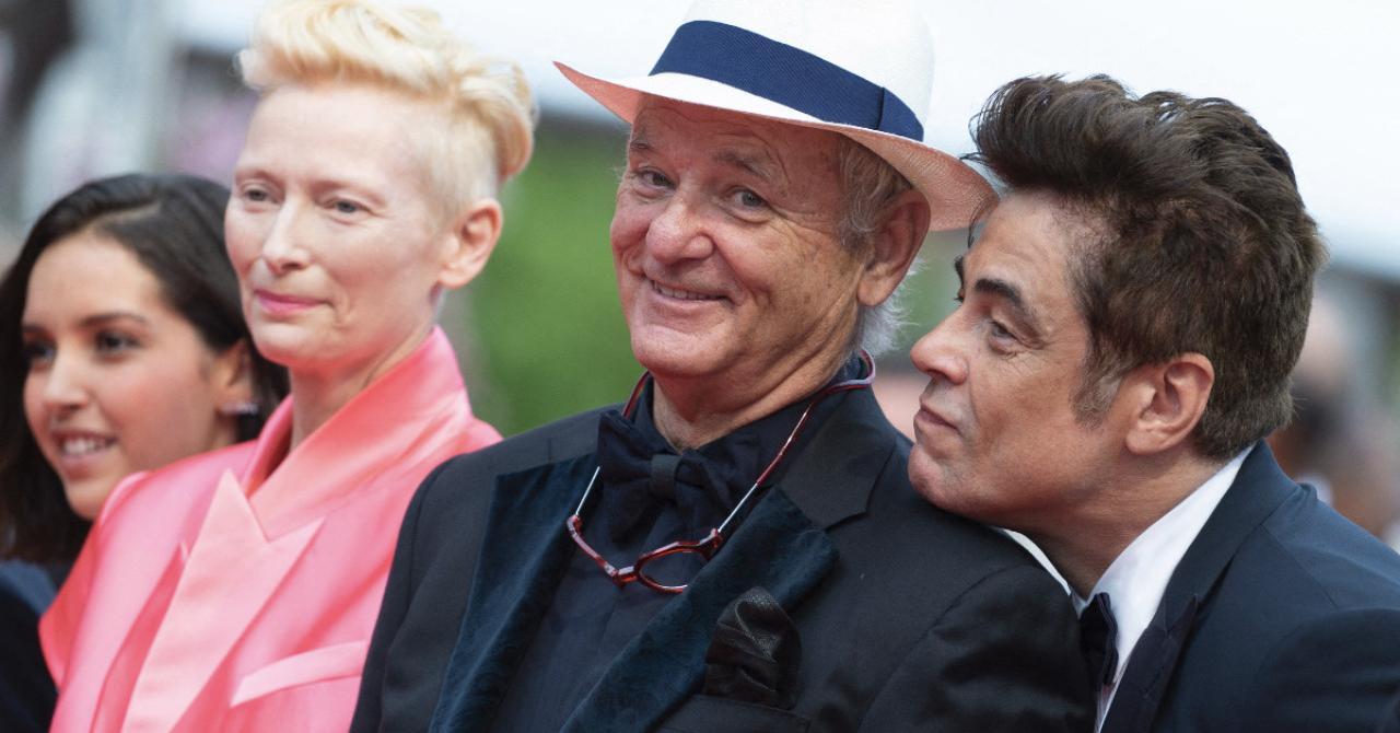 cannes 2021: Lyna Khoudri, Tilda Swinton, Bill Murray and Benicio Del Toro on the red carpet of The French Dispatch