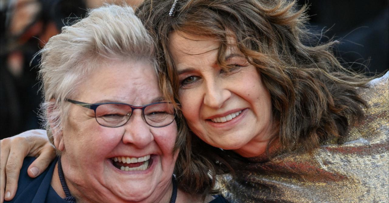 Cannes 2021: Danielle Fichaud (Aline's mother) poses with Valérie Lemercier