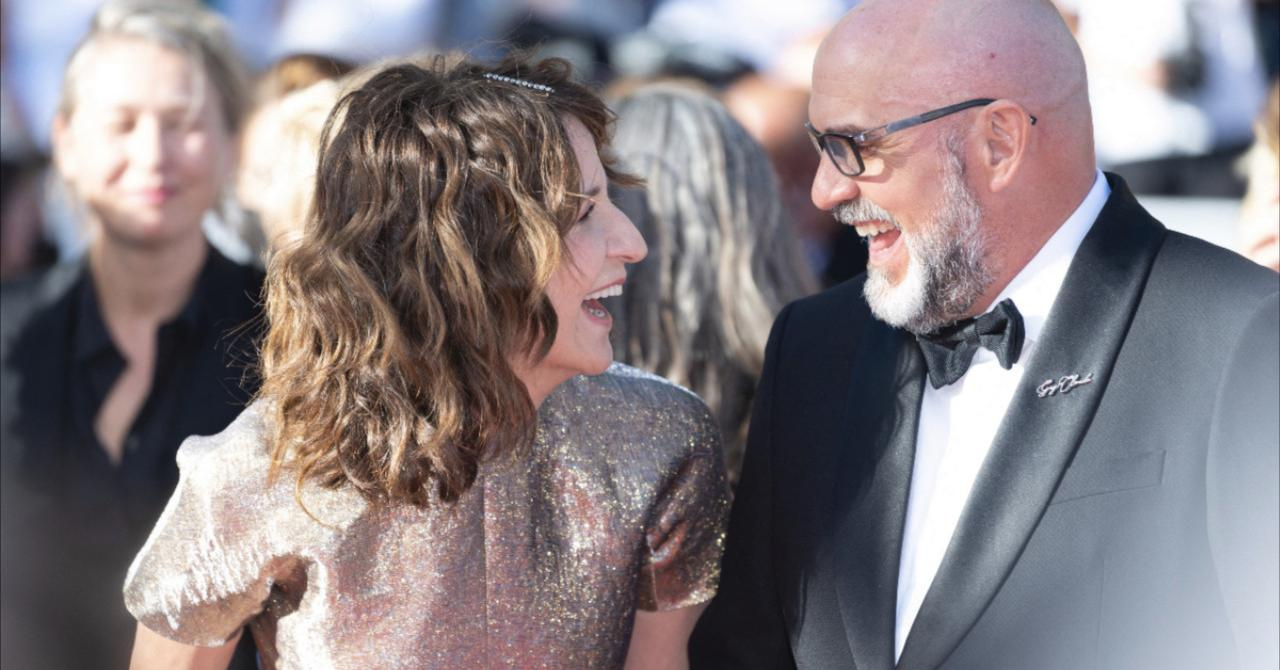 Cannes 2021: Valérie Lemercier and Sylvain Marcel, who plays Guy-Claude (inspired by René Angélil)