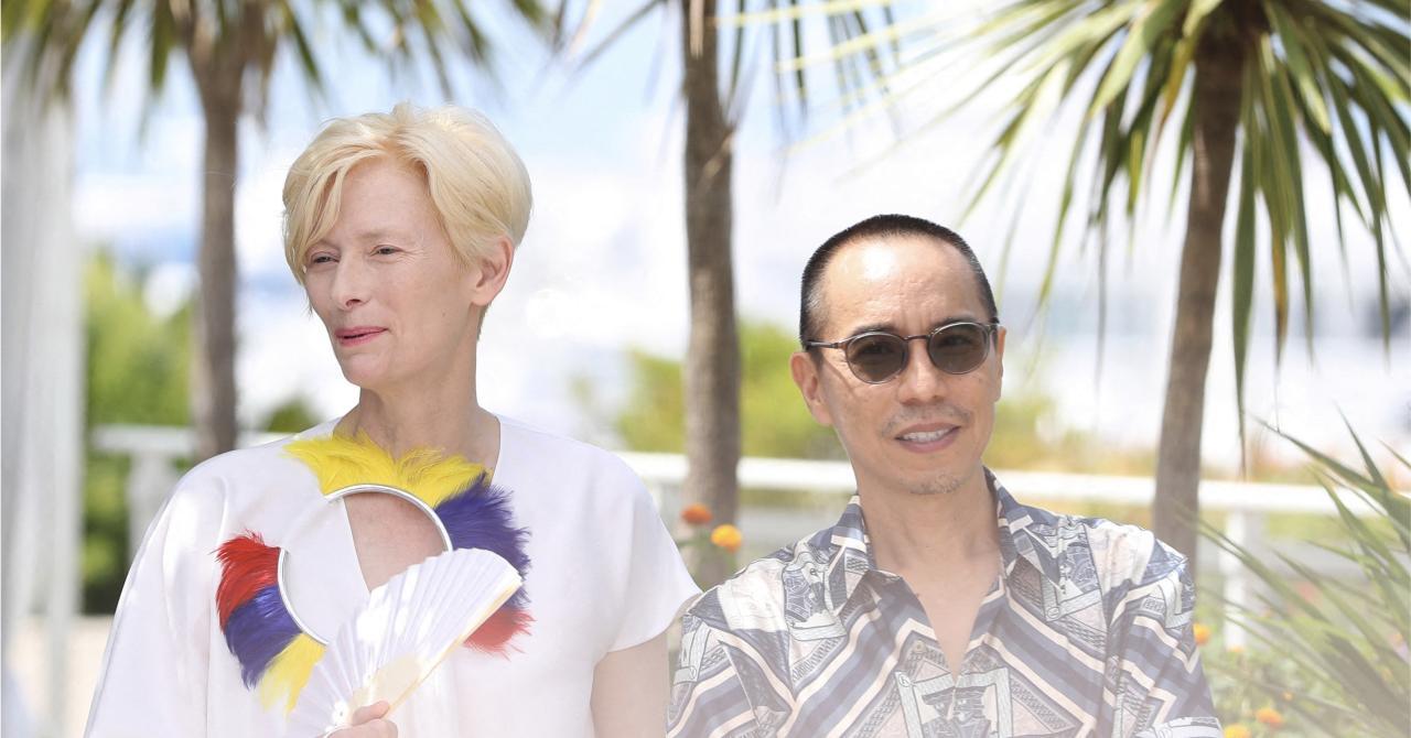 Cannes 2021: Tilda Swinton and Apichatpong Weerasethakul during the Memoria photocall