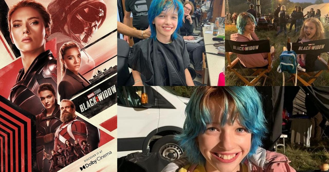 Young Black Widow is played by Milla Jovovich's daughter Ever Anderson