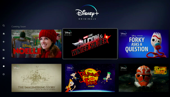 Disney + interface