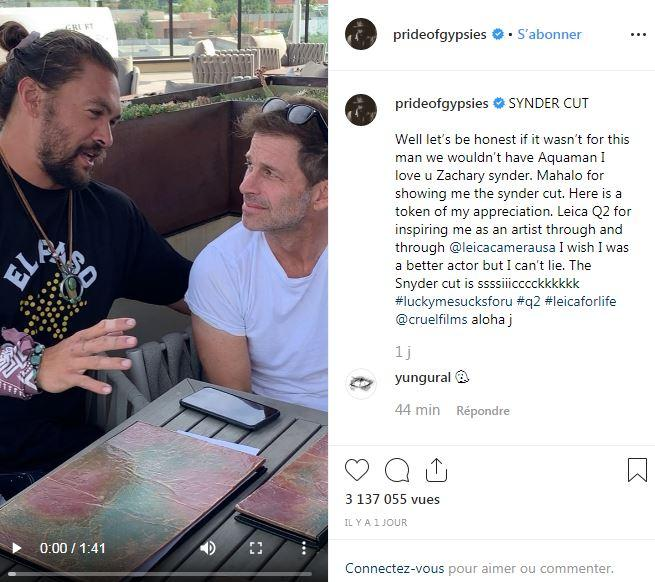 Jason Momoa tease Justice League - The Snyder Cut