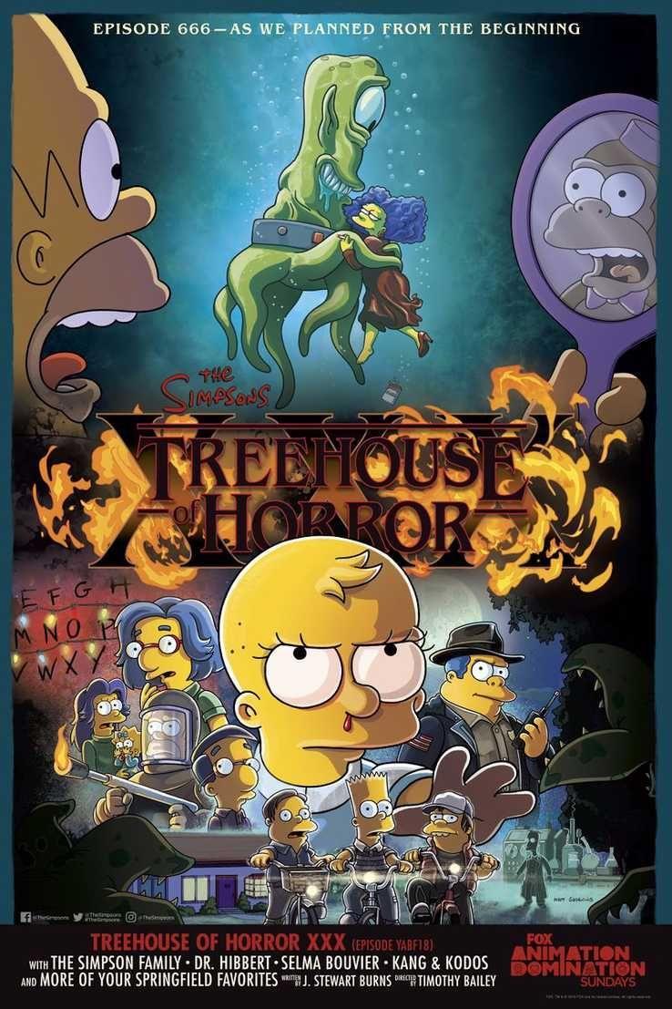 Les Simpson Parodient Stranger Things Pour Halloween Premiere Fr