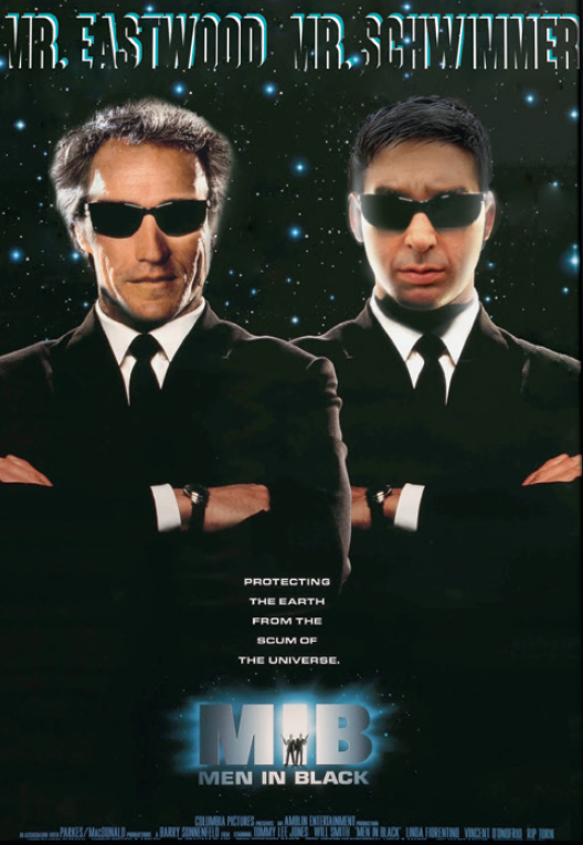Men in Black : Et si Clint Eastwood et David Schwimmer avaient signé ? (montage affiche)