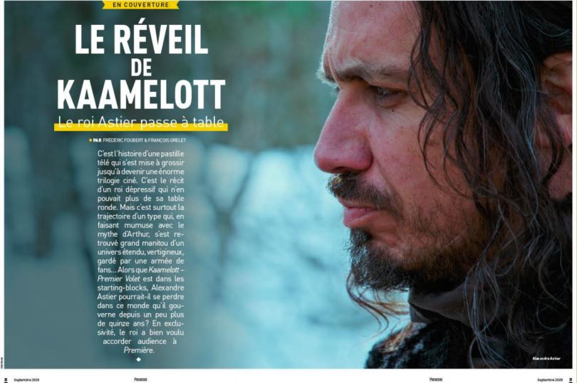 Premiere n ° 510: Kamelott - First part, by Alexandre Astier, is on the cover